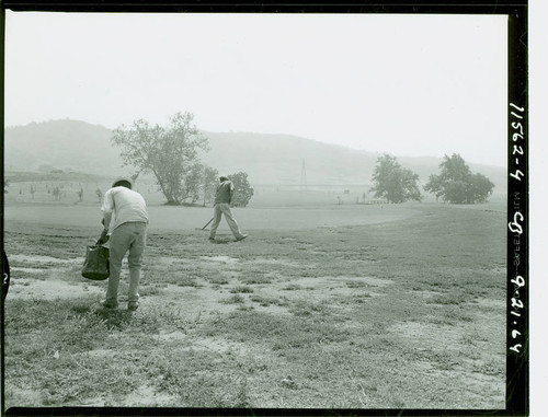 View of construction of Diamond Bar Golf Course
