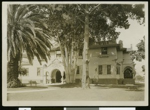Exterior view of Gail Borden's residence in Alhambra