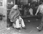 [Bag lady on Broadway]