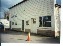 Bakers Lunch building on south side of the Main Street of Graton taken early 2002