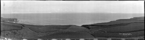 Santa Catalina Island from the Palos Verdes Peninsula. February, 1924