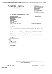 [Letter from Fadi Nammour to Norman BS Jack regarding copy of revolving L/C covering a quantity of 800 cases]