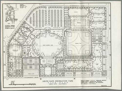 Calisphere South Gate Recreation Park site plan South Gate 1946 – How To Get A Site Plan