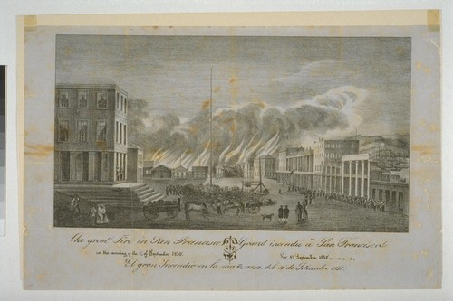 The great Fire in San Francisco in the morning of the 17 of September 1850