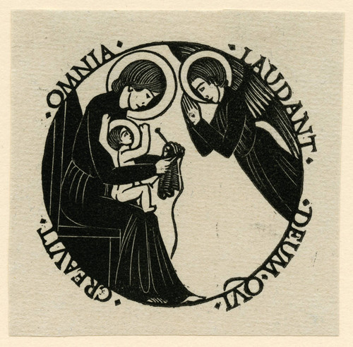 The Madonna and Child with an Angel: Madonna Knitting