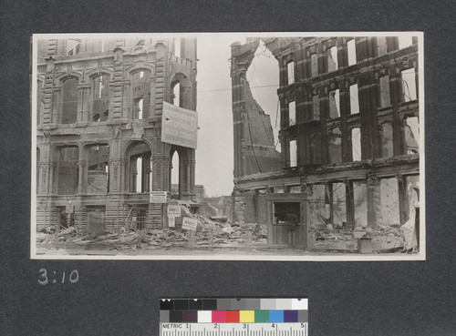 Ruins of Baker and Hamiltons Building. May 25, 1906