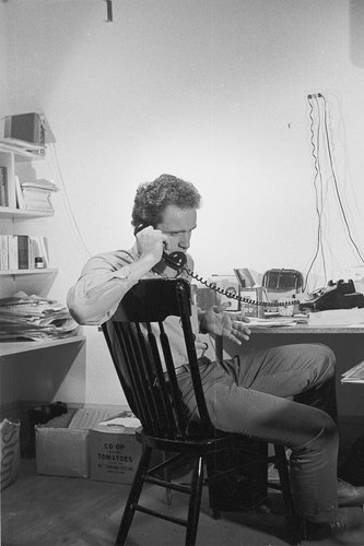 Mario Savio speaking on the phone