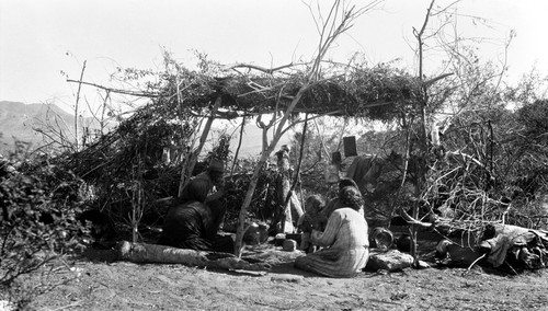 Hastily constructed ramada in use by Tomása's family following the burning of the old house and pending construction of a more permanent shelter