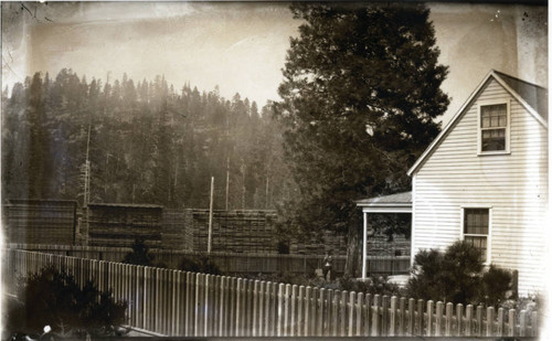 House and lumber mill near Mt. Shasta