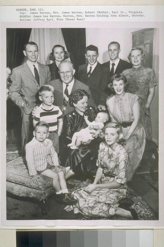Earl Warren and family