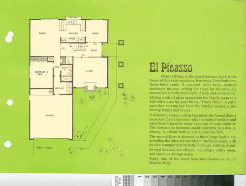 Castille Plan 5 El Picasso Floor Plan And Exterior Renderings