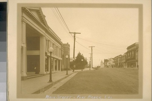 Main Street - Fort Bragg, Cal. [California]