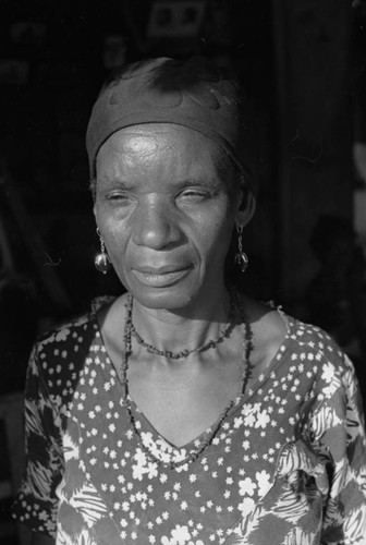 Woman with headscarf, San Basilio de Palenque, 1976