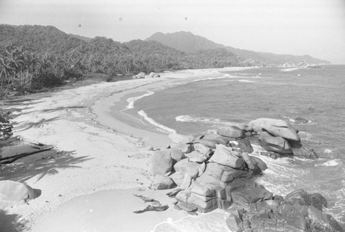 A view of the Caribbean coast, Tayrona, Colombia, 1976