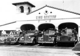 Fire Engines at Chula Vista Fire Station No. 1