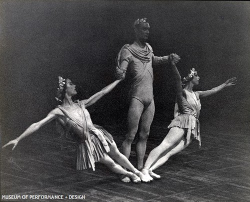 Sally Bailey, Janet Sassoon, and Richard Carter in Balanchine's Serenade, 1960