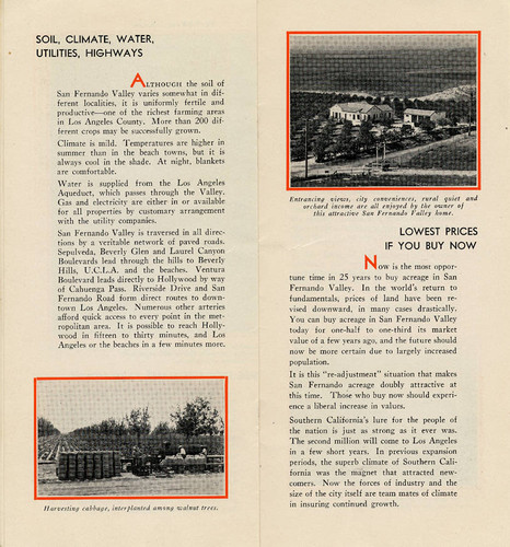 Now is the time to buy a small farm near Los Angeles brochure, 1932