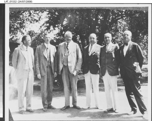 Harry Chandler with others outdoors