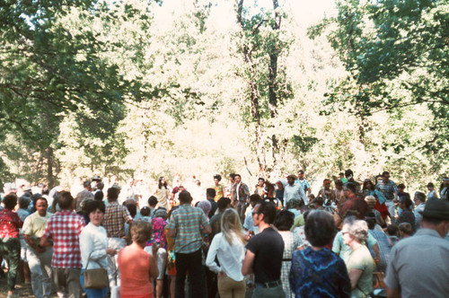 Large gathering at the Tuolumne Rancheria