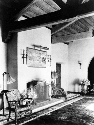 Interior view of the C. E. Utt home in Lemon Heights, Tustin