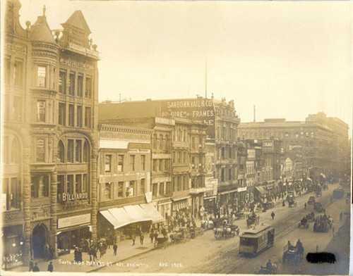 [South side of Market Street between 3rd and 4th streets]