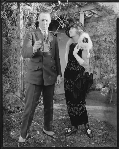 Peggy Hamilton with an unidentified man, circa 1925