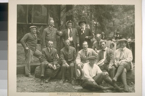 "[Jack London and group] Bohemian Grove play ""Apollo"""