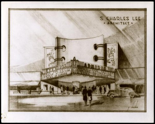 Admiral Theatre, Hollywood, photograph of rendering