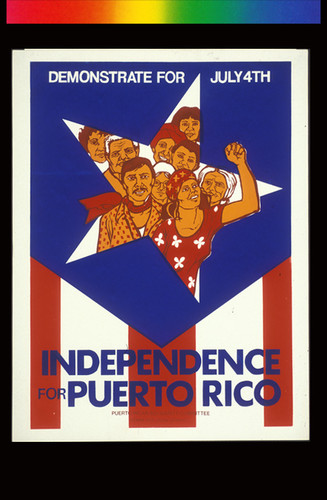 Independence for Puerto Rico, Announcement poster for
