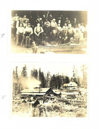 Crew from a Guerneville, California mill, about 1880