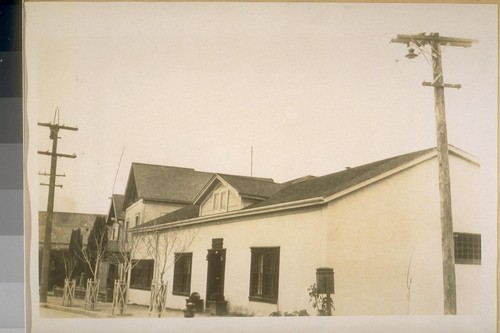 The 1st Federal Court in Calif. Built of adobe in 1836 cor. Polk & Hartwell Sts. Monterey Calif. Photoed [sic] Jany 1929