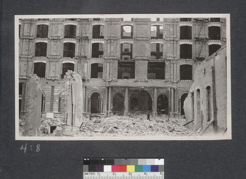 Ruins, Palace Hotel. [New Montgomery St. entrance.]