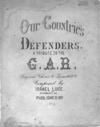 Our country's defenders / words and music by Israel Luce