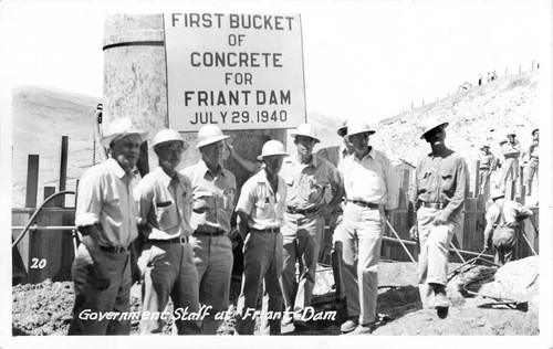 Government staff at Friant Dam Friant California
