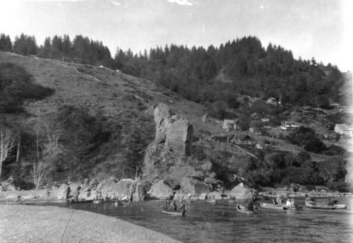 "Requa: From the ""Williams' side,"" before the trees had started growing on the hills"