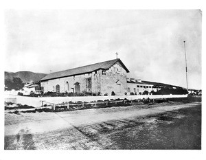 Exterior view of the Mission San Jose de Guadalupe (St. Joseph of Guadalupe), ca.1865