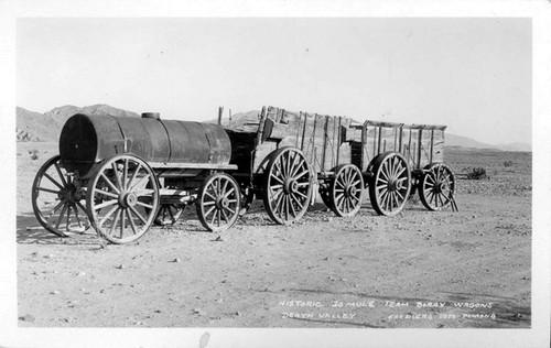 Calisphere historic 20 mule team borax wagons death valley for 20 mule team borax swimming pools