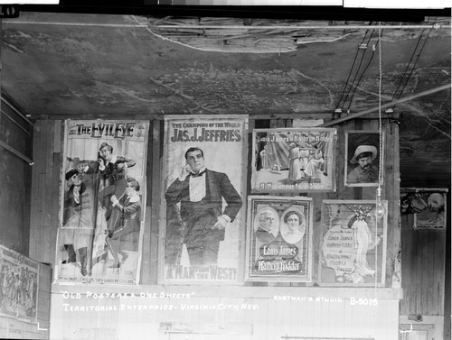 """Old Posters & One Sheets"" Territorial Enterprise - Virginia City, Nev"