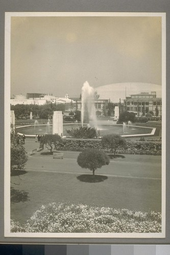 Sunken Gardens and fountains from Administration Building