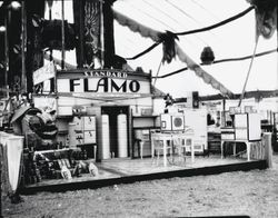 Gravenstein Apple Show display, about 1930s of Standard Oil's Flamo propane products