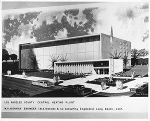 Los Angeles County Central Heating and Refrigeration Plant, 1958