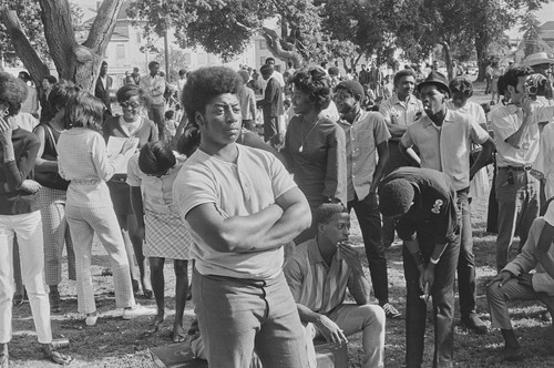 Free Huey Rally, Bobby Hutton Memorial Park, Oakland, CA, #56 from A Photographic Essay on The Black Panthers