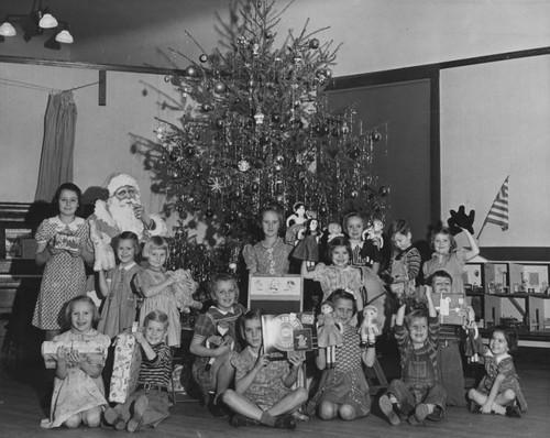 Orphan children at Christmas