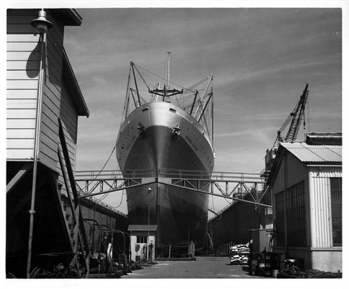 """P.C. bow in drydock 8/1/52 AHP"""
