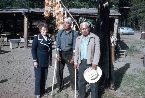 Dorothy Hill, Tom Epperson and Frank Joseph at the Bear Dance--Janesville--1973