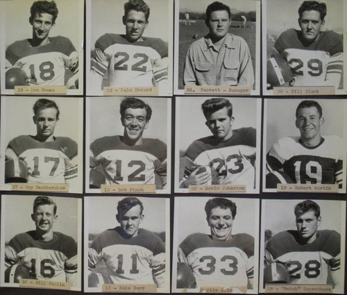 Analy High School football team individual photos, fall 1951
