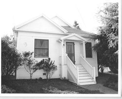 about 1905 Queen Anne cottage house in the Morris Addition, at 234 Pitt Avenue, Sebastopol, California, 1993