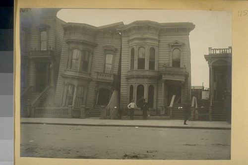 [Earthquake damage to wood frame buildings, San Francisco.]