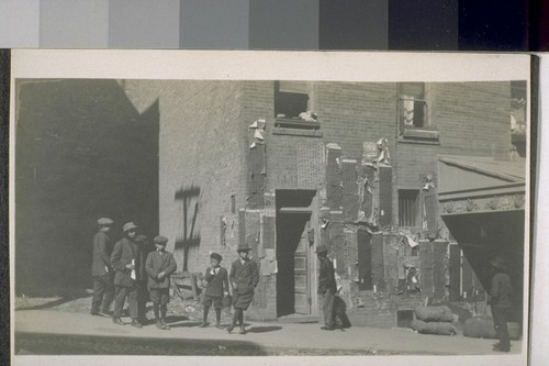 Chinese. San Francisco. [Chinese boys and men on sidewalk, Chinatown.]