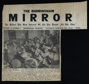 """Birmingham council women plan regional meeting"", 1952"